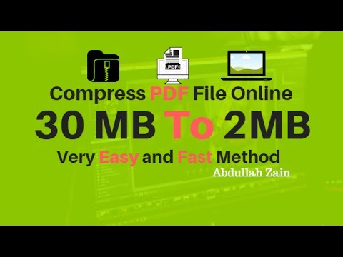 How to Compress PDF File size 30MB To 2MB