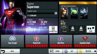 Level 50 VII Regime Superman Maxed Character Review | Injustice iOS