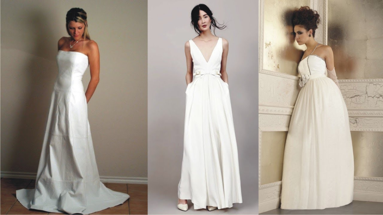 5a54bc43e06b Cosy White Leather Wedding Dress For Great Event - YouTube