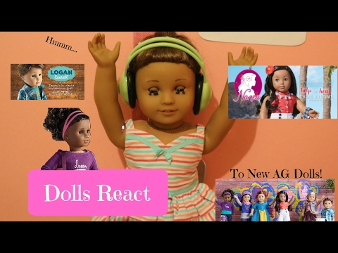 Dolls React To New American Girl Dolls! An AGSM