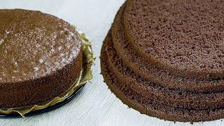 ☆ ШОКОЛАДНЫЙ БИСКВИТ ☆ Бисквит, который получается ВСЕГДА ☆ Бисквит для Шоколадного Торта