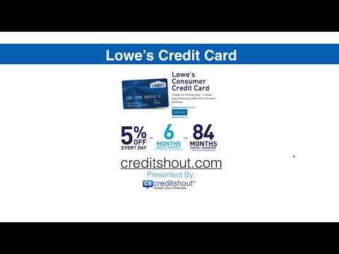 Lowes Credit Card And Project Card Review