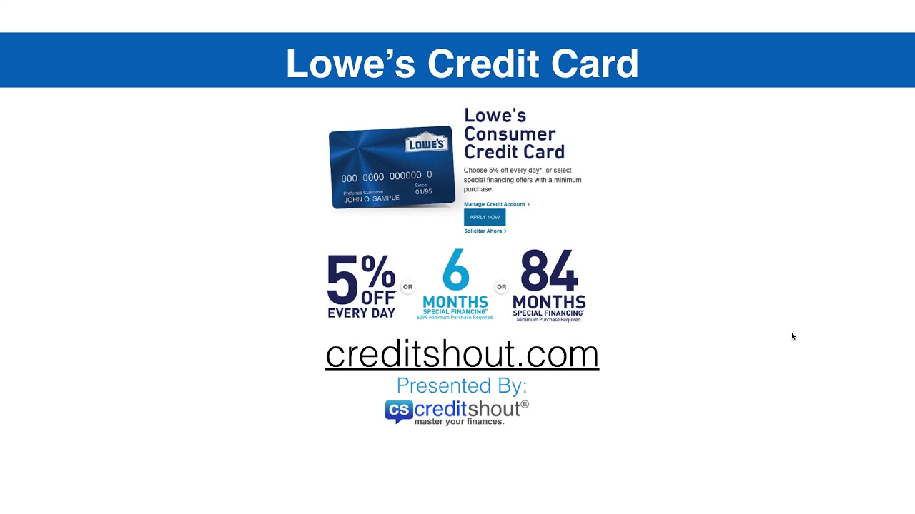 lowes application for credit