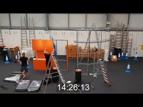 UKChanges 6m x 3m exhibition stand installation in 21 minutes