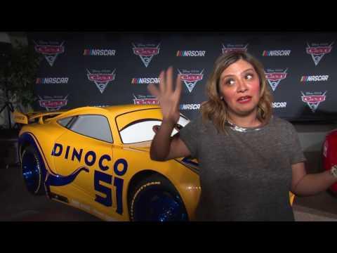 """CARS 3 """"Cruz Ramirez"""" Cristela Alonzo NASCAR Interview"""