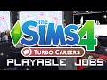 The Sims 4 | Mod Overview | Turbo Career - Playable Jobs!