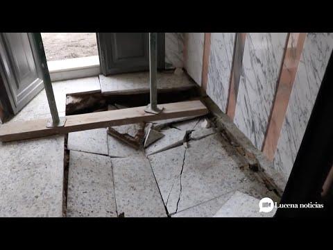 """VÍDEO: Juan Pérez cree que en unas semanas podrá solucionarse el problema de la vivienda """"hundida"""" en la calle Trasmatadero"""