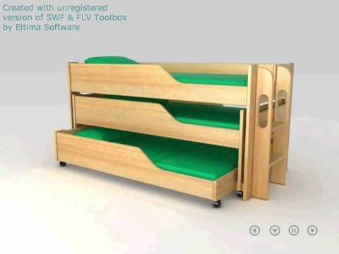 Двухъярусная кровать выдвижная своими руками