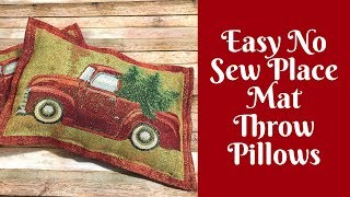 christmas-crafts-easy-no-sew-throw-pillows-from-place-mats