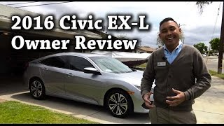 2016 Honda Civic EX-L sedan Owner Review 1 month
