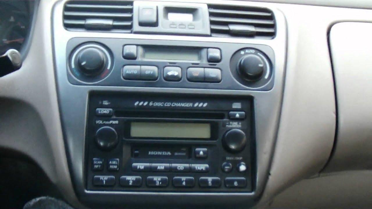 2001 honda accord radio replacement