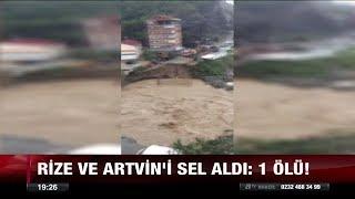 Rize ve Artvin'de sel, Ardahan'da kar var! - 16 Ekim 2017