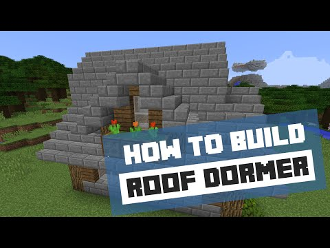 How To Build A Dormer Roof - Minecraft Tutorial
