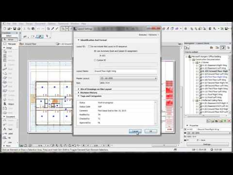 Layout Scheme in ARCHICAD's Book Settings Dialog