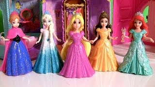 Play Doh Rapunzel Flip 'N Switch Castle MagiClip Disney Princess Ariel Elsa Anna Dolls