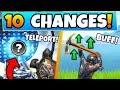 Fortnite Update: NEW TELEPORTERS + PICKAXE BUFF! - 10 Secret CHANGES in Battle Royale!