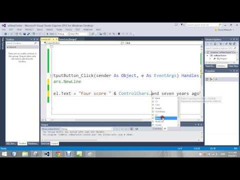 ControlsChars NewLine   Visual Basic