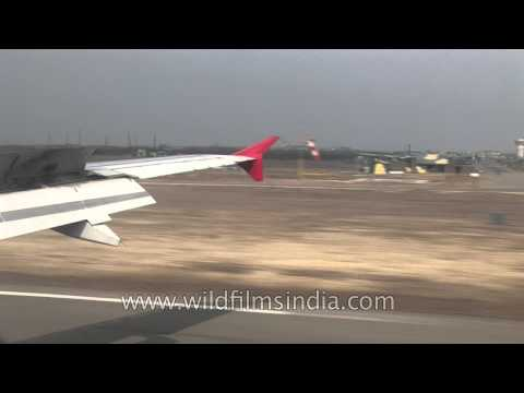 Indian military bunkers at airport in Jammu and Kashmir state