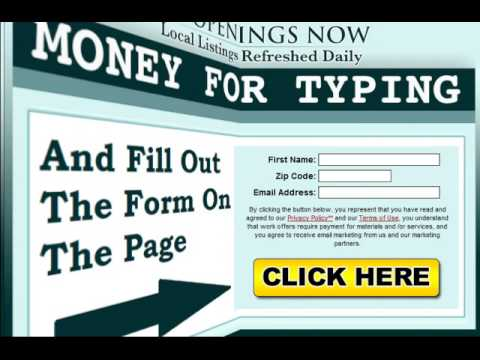 Typing Jobs: The Legitimate Work From Home