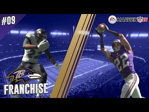 Can You Digg It? | @ Vikings (S1,G7) | Madden NFL 18 Baltimore Ravens Franchise Ep. 09
