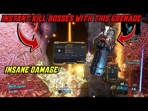 Borderlands 3| INSTANT KILL BOSSES WITH THIS INSANE GRENADE MOD- Red Queen Item Overview-CRIT GLITCH
