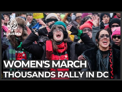 'A rapist in your path' anthem sets defiant tone at Women's March