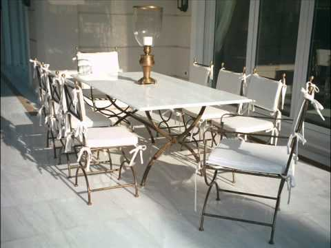 Rich And Classy POOLSIDE FURNITURE   Fancy Lavish Outdoor Furniture    AUTHENTIC Steel Patio Tables