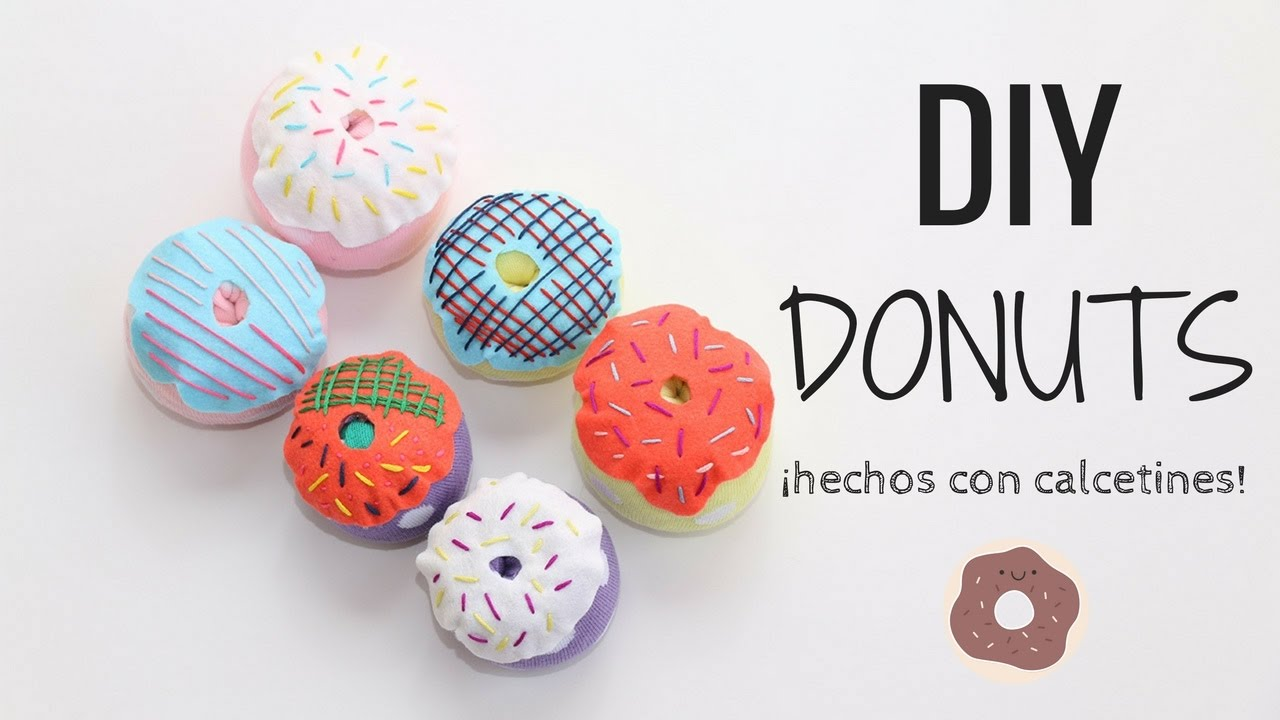 DIY DONUTS hechos de calcetines! 1001 USOS posibles! - YouTube