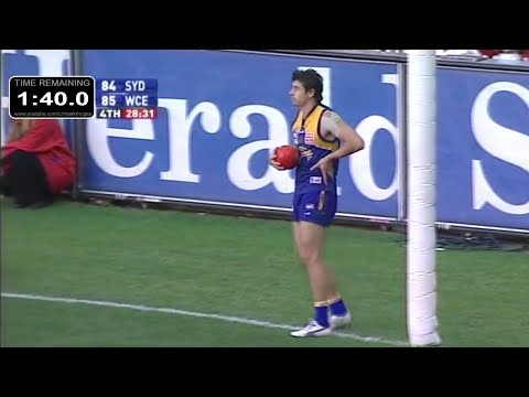 2006 AFL Grand Final - Sydney v. West Coast - Final 5 minutes with countdown clock