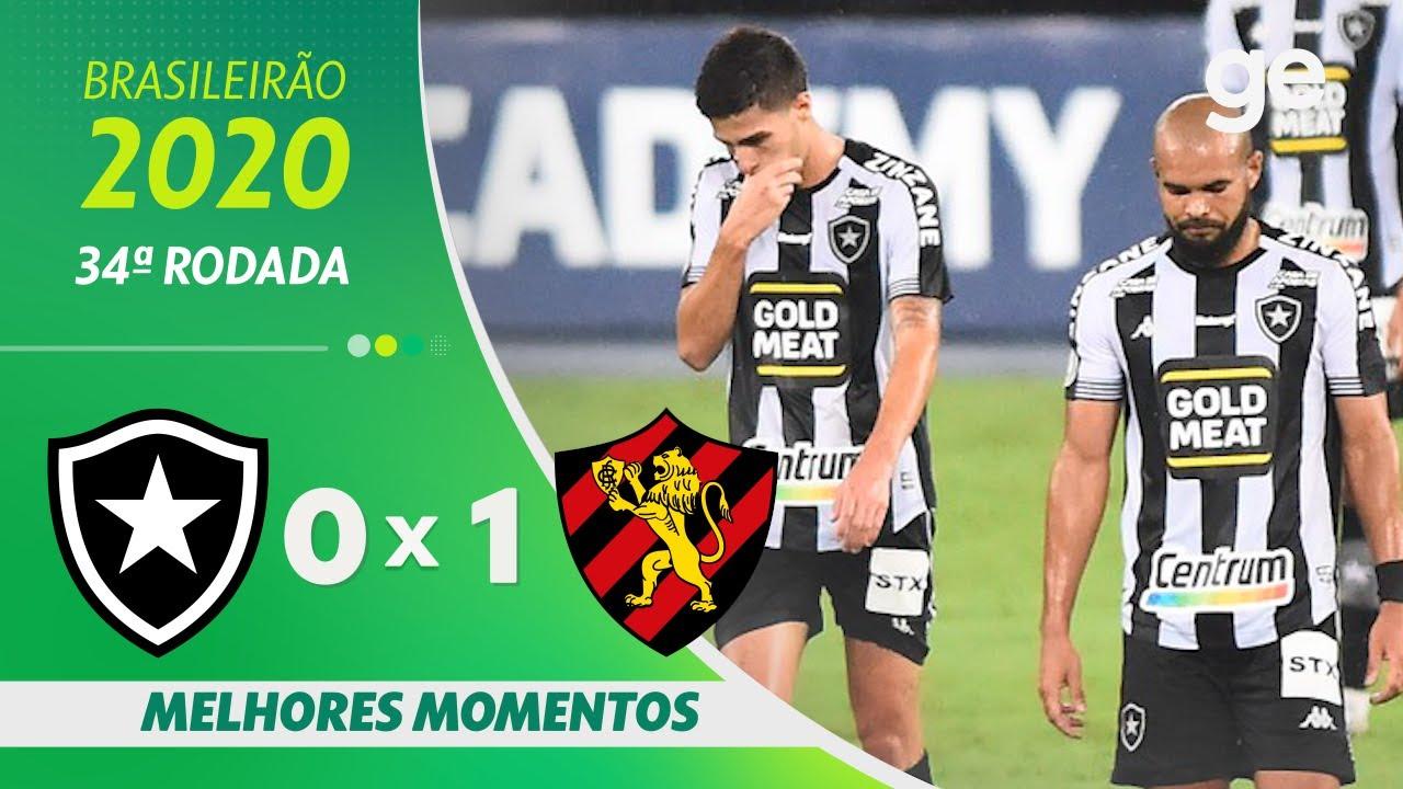 BOTAFOGO 0 X 1 SPORT | MELHORES MOMENTOS | 34ª RODADA BRASILEIRÃO 2020 | ge.globo