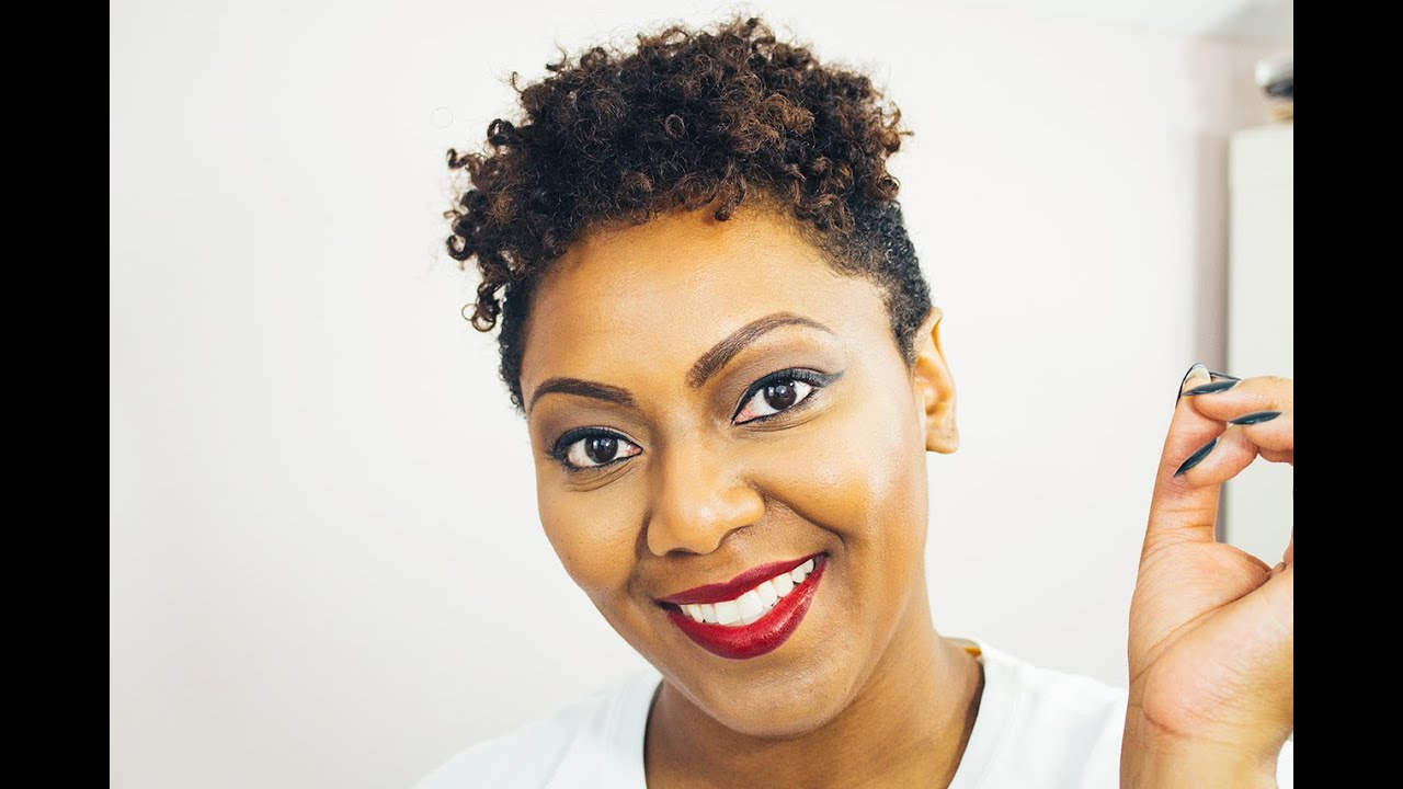 quick style for growing out shaved sides on natural hair - youtube