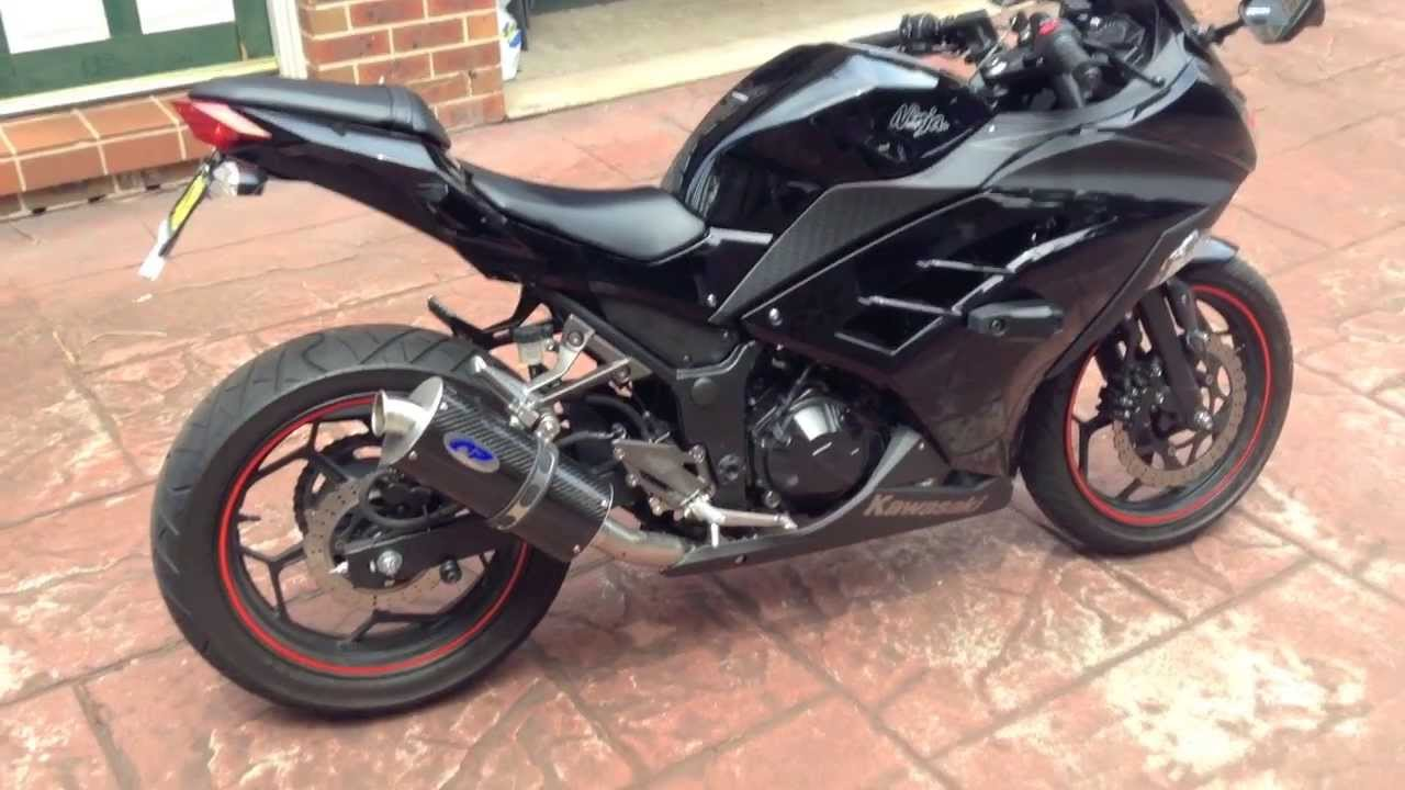 area p exhaust system kawasaki ninja 300 mods youtube