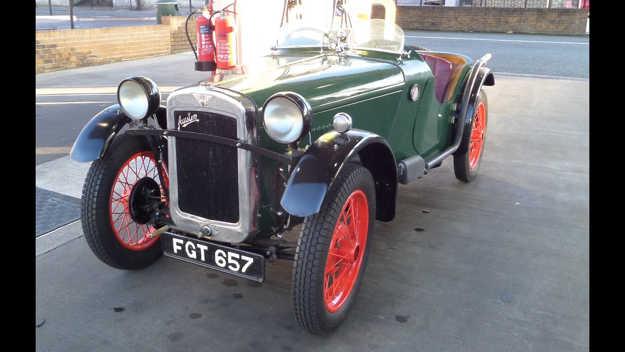 Austin 7 Special Driving Around London Ulster Front Axle