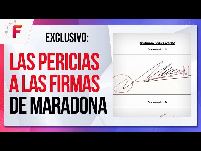 FALSIFICADAS ❌: Las PERICIAS a las FIRMAS de Maradona: ¿Quién firmaba por él?