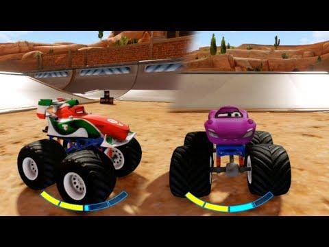Disney Infinity Monster Truck Stunt Challenge Gameplay