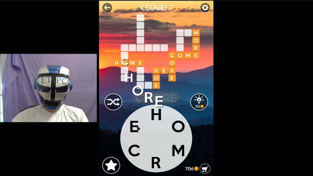 Wordscapes Cloud 7 Answers Youtube