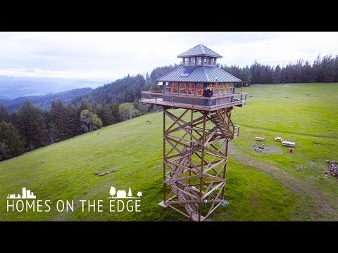 Our Fire Tower House In The Sky | HOMES ON THE EDGE