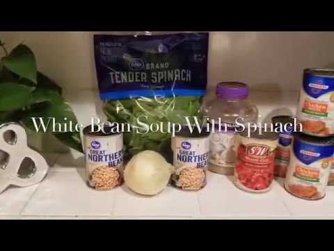 Quick White Bean & Spinach Soup