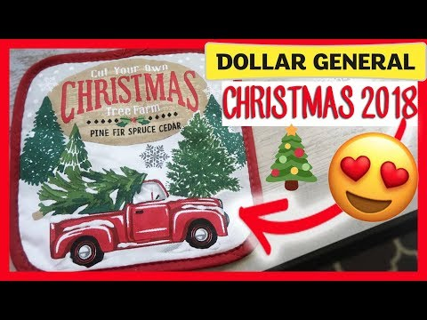 🎄DOLLAR GENERAL CHRISTMAS  SHOP WITH ME AND HAUL NEW 2018