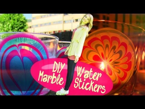 Thumbnail: DIY Water Marble Room Decor. How to Make Stickers at Home!