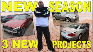 NEW SEASON!! 3 New MERCEDES COPART projects comming up.