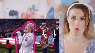 Vocal Coach Reacts to PINK - National Anthem