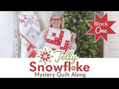 Jelly Snowflake Christmas In July Mystery Quilt Sew Along | Block 1 Reveal | Fat Quarter Shop