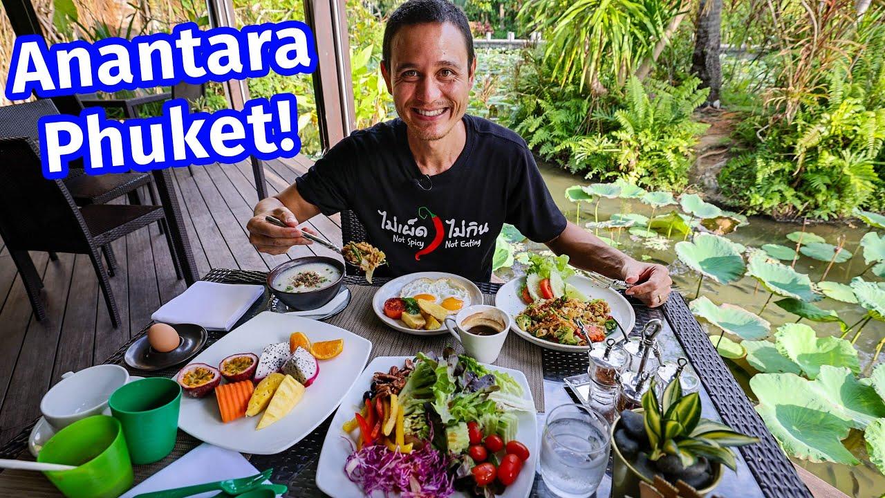 $130 Pool Villa in Phuket!! Anantara Mai Khao 5 Star Hotel Tour + Breakfast Pad See Ew!