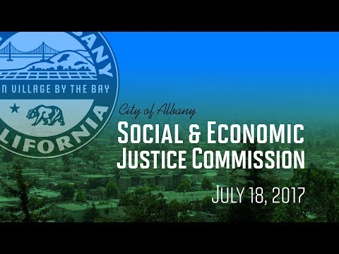 Social & Economic Justice Commission - July 18, 2017
