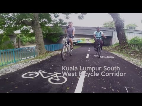 Mid Valley to Dataran Merdeka 5km South West Bicycle Corridor (HD)