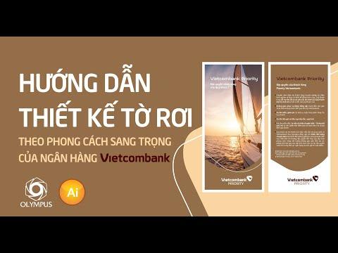 Hướng dẫn thiết kế tờ rơi theo phong cách sang trọng của NH Vietcombank   Illustrator tutorial