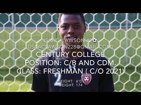 ISAAC LAWSON || FRESHMEN YEAR SOCCER HIGHLIGHTS || CENTURY COLLEGE || 2017