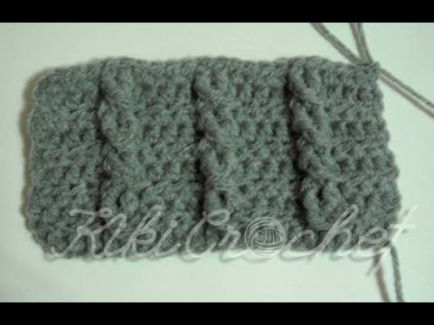 Crochet Cable Stitch (single cables- english tutorial) - YouTube