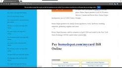 How to Pay homedepot.com/mycard Bill Online